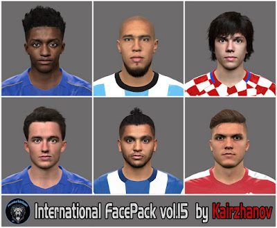PES 2016 INTERNATIONAL FACEPACK VOL.15 by by Kairzhanov