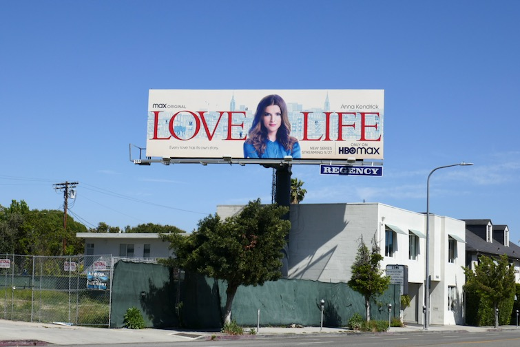 Love Life HBO Max series billboard