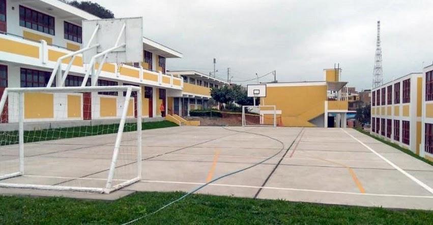 PRONIED: Entregan remodeladas instalaciones del colegio Julio C. Tello de Lurín - www.pronied.gob.pe