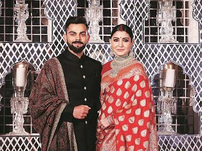Anushka Sharma and virat kohli marriage image