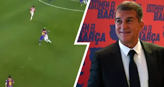 Laporta defends Leo after his first-ever red card for Barca