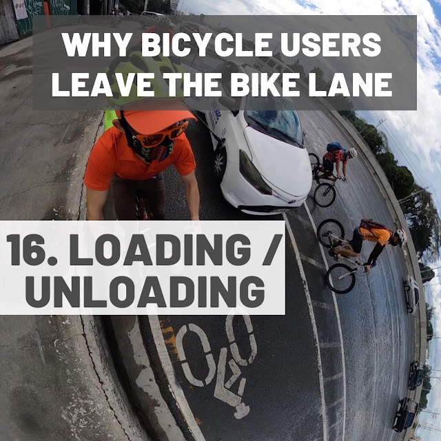 Cars and other vehicles use bike lanes for loading / unloading