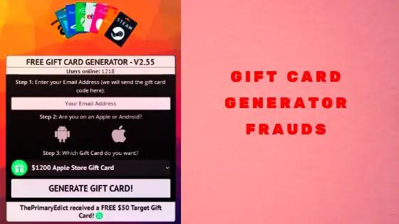 Odexgen gift card generator frauds