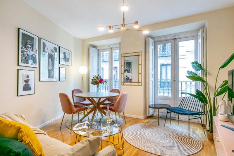 Un apartamento de alquiler de solo 50 metros, sobrado de estilo