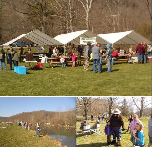 Cameron county pa news youth fishing event andrews farm for Pa fishing season