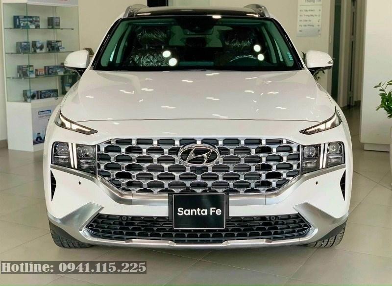 Hyundai Santa fe 2021 máy xăng đặc biệt màu trắng