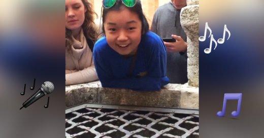 Esta chica de 17 años canta Aleluya en un pozo ¡y es viral!