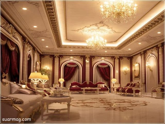 ديكورات جبس اسقف راقيه كلاسيك 15   Classic Gypsum Ceiling 15