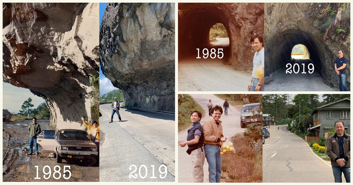 Guy duplicates Sagada road trip 34 years apart, shares amazing comparison photos