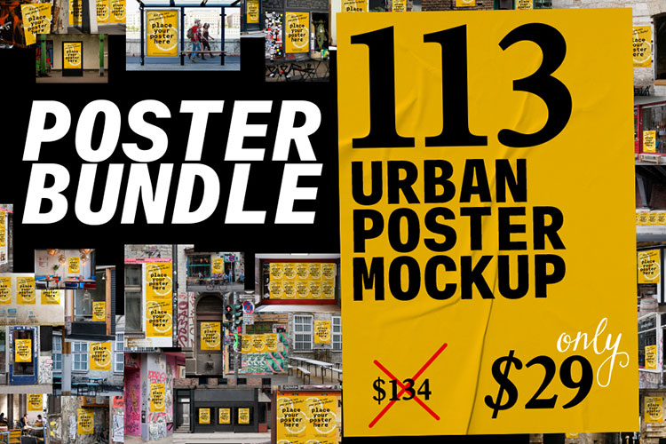 Urban Poster Mock-up Bundle