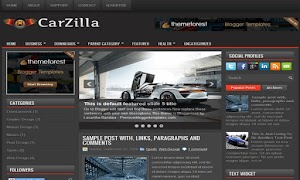 CarZilla 3 Column Blogger Template