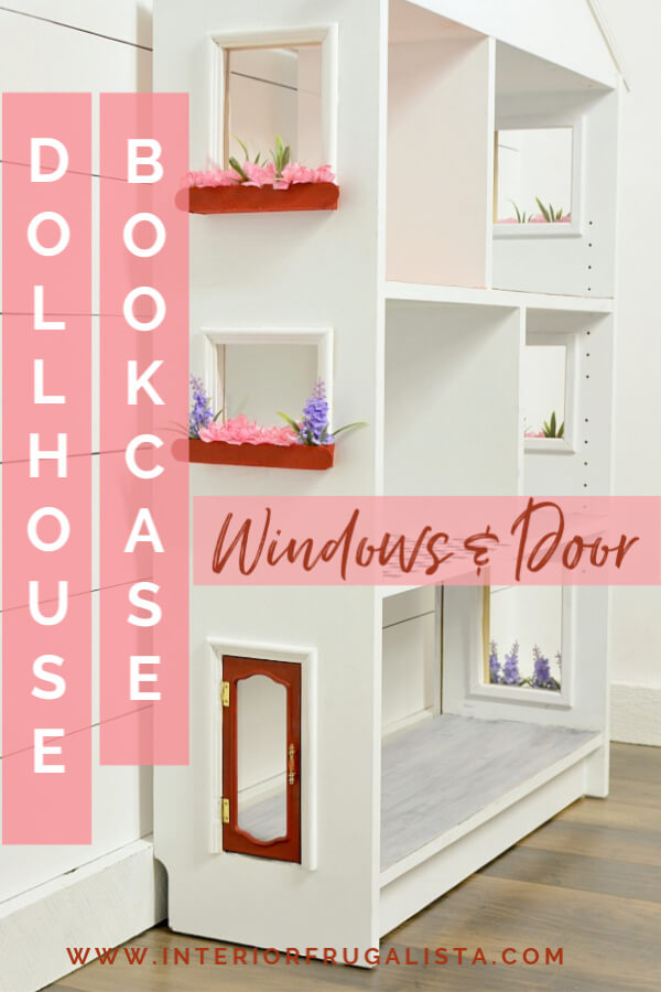 Dollhouse Bookcase DIY Exterior Door Plus Windows