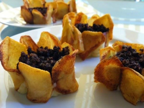 Receta de flores de patata sin gluten