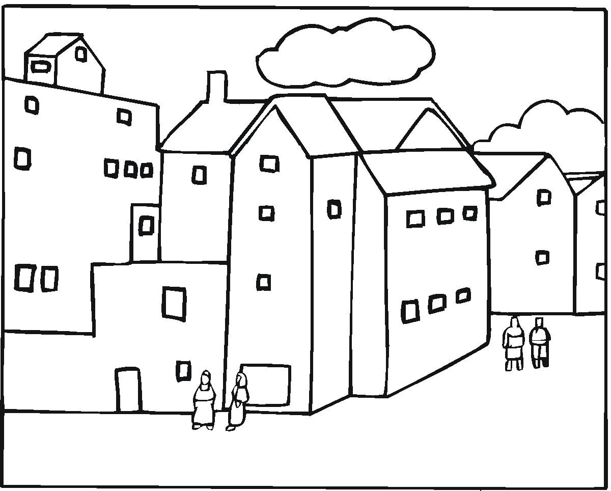 City Buildings Coloring Pages - #GolfClub