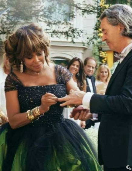 red carpet wedding tina turner and erwin bach red