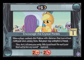 My Little Pony Encourage the Crystal Ponies The Crystal Games CCG Card