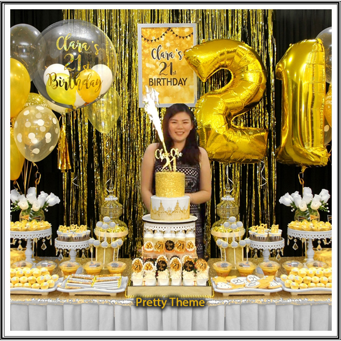 Black And Gold 21st Birthday Decorations Decoration For Home