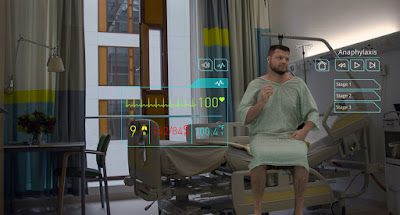 A holographic-simulated patient.