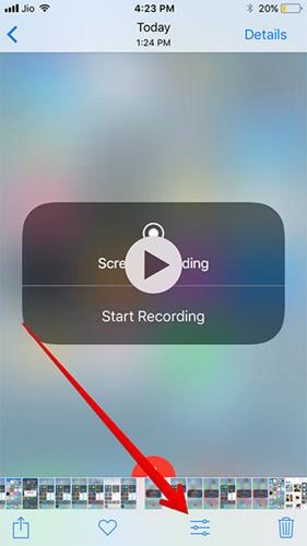 تسجيل شاشة الآيفون والآيباد في iOS 11