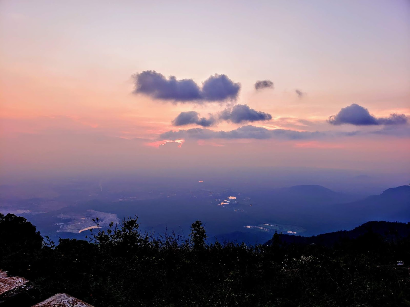 Cloudy Sunset from Gents Seat, Yercaud