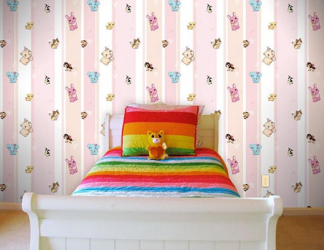 empapelado en dormitorio infantil