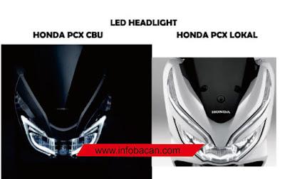 perbedaan lampu pcx all new 2019 vs CBU