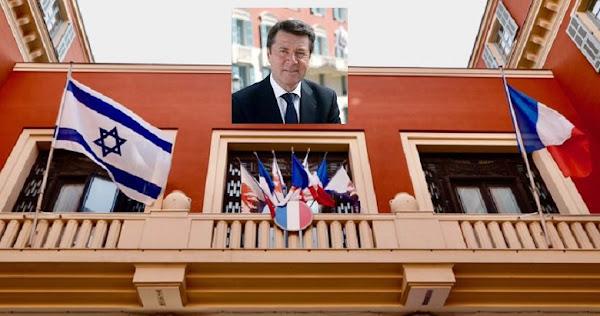 Nice : Estrosi menacé de mort après avoir fait hisser le drapeau d'Israël sur la mairie