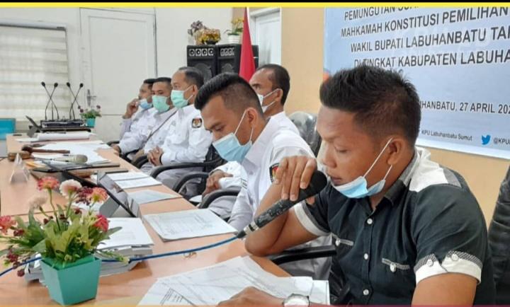 KPU Kabupaten Labuhanbatu Menggelar Rapat Pleno dan Rekapitulasi PSU, Ini Pemenangnya
