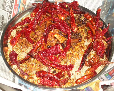 fried red chillies