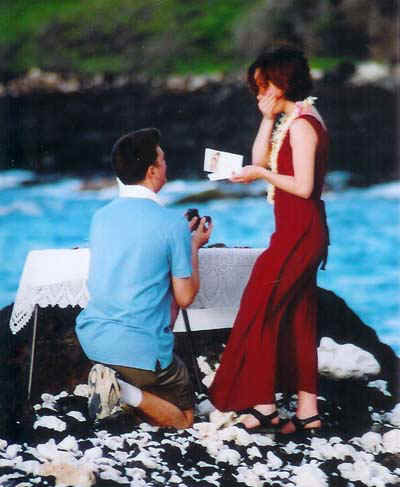 Propose for marriage on happy propose day good afternoon sms - Boy propose girl with rose image ...