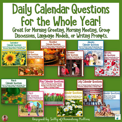 https://www.teacherspayteachers.com/Product/Daily-Calendar-Questions-for-the-Whole-Year-4209589?utm_source=blog%20post%20Answering%20in%20Complete%20Sentences&utm_campaign=Daily%20Calendar%20Questions%20for%20the%20year