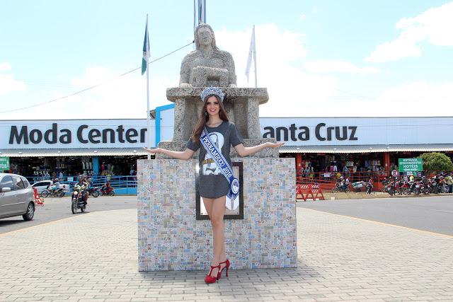 Miss Pernambuco 2016 visita Moda Center Santa Cruz