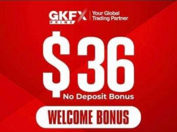 GKFX Prime $36 Forex No Deposit Bonus