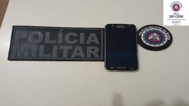Policia de Morpará age rapido e recupera celular roubado