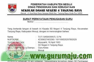Contoh Surat Penugasan Dari Kepala Sekolah Untuk Pendaftaran