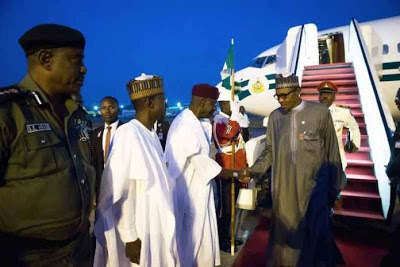 BREAKING NEWS: PRESIDENT BUHARI IS BACK TO NIGERIA
