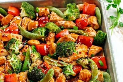 SHEET PAN SESAME CHICKEN AND VEGGIES RECIPE