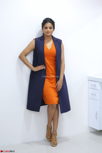 Priyamani in Beautiful Short Deep neck Orange Dress ~  Exclusive 02.JPG