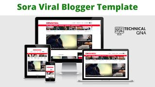 Sora Viral Responsive Blogger Theme   Perfect And Unique Theme