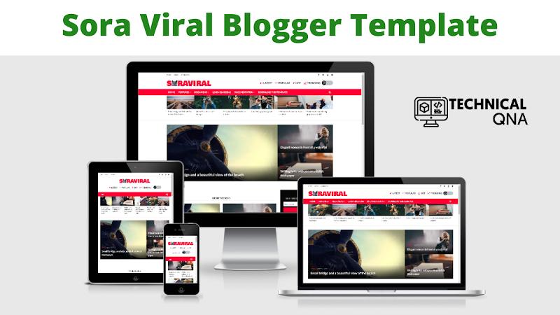 Sora Viral Responsive Blogger Theme   Perfect And Unique Theme - Responsive Blogger Template