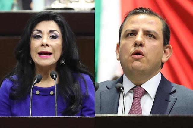 diputada Lucero Saldaña Pérez y el diputado Fernando Galindo Favela
