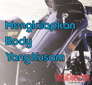 Cara Menghitamkan Dasbor Dan Body Motor Yang Sudah Kusam