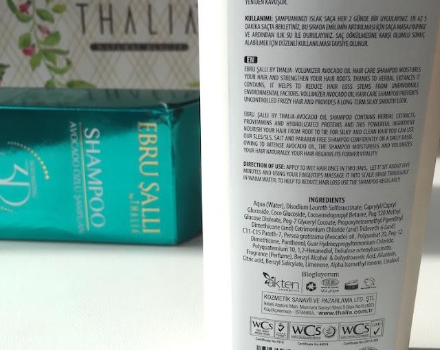 ebru şallı by thalia 3d avokado özlü şampuan içerik