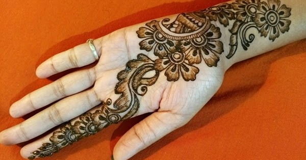 mehndi designs for front hands easy