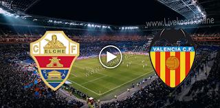 مشاهدة مباراة ألتشي وفالنسيا بث مباشر بتاريخ 23-10-2020 في الدوري الاسباني