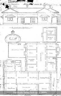 A plan of the Fortitude Valley lock-up, Brisbane, c.1890s