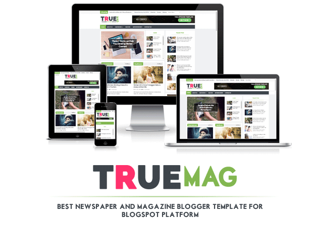 True Mag responsive magazine blogger template