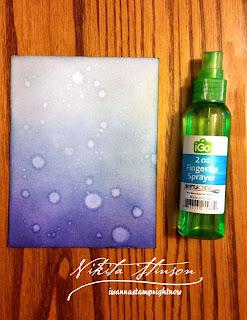 Monochromatic Blue Distress Inked Sprayed Background