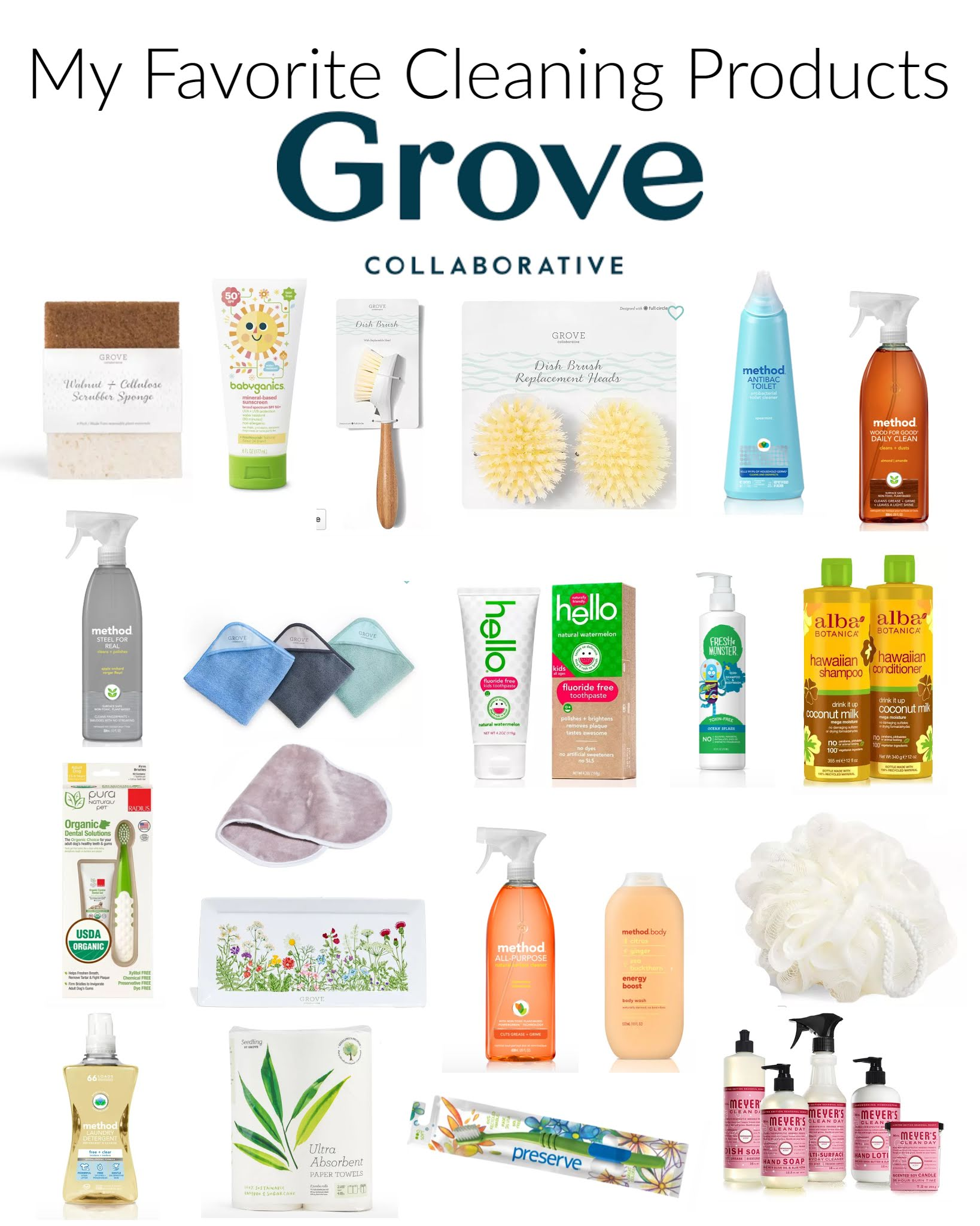 Grove collaborative products. The best grove collaborative products. The best cleaning products. Safe cleaning products for kids. Safe cleaning products to use in your home. The best all natural cleaners. Free mrs meyers gift set. The best mrs Meyers products. #cleaning #clean #home #organic #allnatural #family