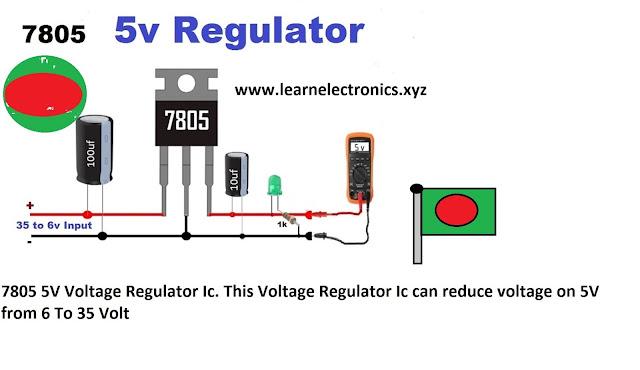 7805 IC voltage making idea 5 volt